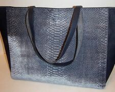 Deux Lux Large Tote Bag Carryall DL62970A Slate Gray Textured Velvet NWT $95