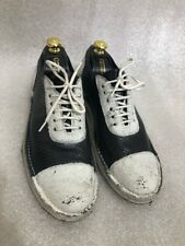 Rocco P. Shoes, Black & White Perforation Lether Combined Laces Shoes Size 9,5