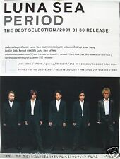 """LUNA SEA """"PERIOD - THE BEST 2001-01-30"""" ASIAN PROMO POSTER - Japanese Rock Band"""