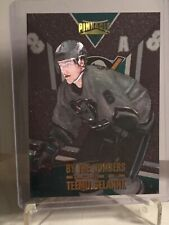 1996-97 Pinnacle By the Numbers Promo #1 Teemu Selanne Hockey Card