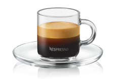 Nespresso Vertuo Espresso Set  ( 2 Cups, 2 Saucers & 2 Spoons) **Brand New**