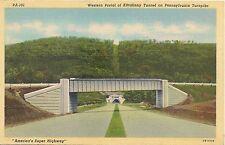 Western Portal of Kittatinny Tunnel on Pennsylvania Turnpike Postcard