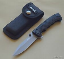WALTHER PPQ LINERLOCK FOLDING KNIFE WITH NYLON POUCH - 8.75 INCH OVERALL