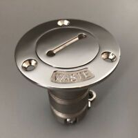 """Fuel Gas Marine Stainless Steel Boat Deck Fill Filler Cap Keyless Angled 1.5/""""/"""""""