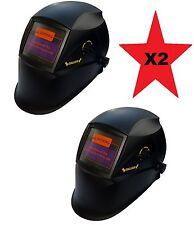 2 X Auto Oscurecimiento Casco Soldadura Soldadores Máscara solar H12 Negro