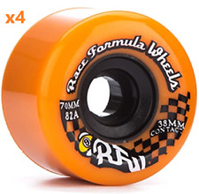 Sector 9 Nine Race Formula Skateboard Longboard Cruiser Wheels 70MM 82a Orange