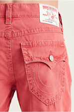 True Religion Men's Big T Straight Fit Pants in Ruby Red