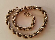Armband massiv Kordelkette Silber 835 antik