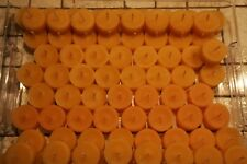 86 Bienenwachskerzen Teelichter (ohne Aluhülle) + 3 Teelichtschalen