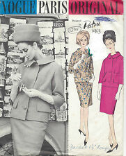 1963 Vintage Vogue Sewing Pattern B32 Suit Jacket & Skirt (1375) by Patou