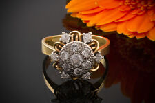Schmuck Art Deco Brillantring Ring mit Brillanten 1ct In 750er Gold Bicolor 61