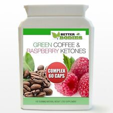 60 RASPBERRY KETONE AND GREEN COFFEE BEAN EXTRACT COMPLEX WEIGHT LOSS DIET PILLS