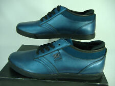 New Mens 11 DC Sector 7 Blue Leather Skate Shoes $110