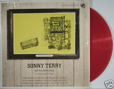SONNY TERRY & His Mouth Harp RED VINYL LP