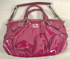 COACH SOPHIA BERRY DEEP PINK PATENT LEATHER 15921 W/ REMOVABLE SHOULDER STRAP