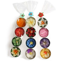FLOWER TEALIGHTS GIFT SET 4 candles multi coloured scented handmade fair trade