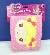 Adora Baby Activity Book Machine Washable Cloth New T3