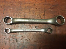 Vintage Snap-On Short Ring Spanners XS-2024 XS-1214 Mechanics Hand Tools.
