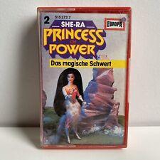 """SHE-RA """"PRINCESS OF POWER"""" GERMAN CASETTE #2 DAS MAGISCHE SCHWERT"""