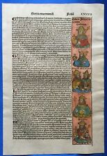 Altkoloriertes Blatt CXXVII, Schedel Weltchronik 1493, Nürnberg, altkoloriert