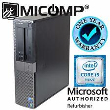 Fast Dell Windows 10 64 Desktop Computer PC intel Quad Core i5 3.10Ghz 8Gb 500GB