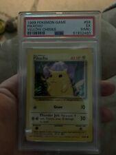 Pikachu Yellow Cheeks #58 PSA 5 Unlimited Base Set 1999 Pokémon Game WOTC!!!