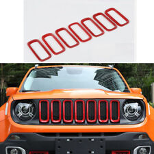 Red Car Front Grille Inserts Mesh Grill Accessories for Jeep Renegade 2015-2017