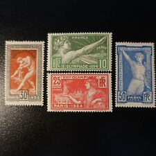 FRANCE JEUX OLYMPIQUES OLYMPICS GAMES N°183/186 NEUF ** LUXE MNH COTE 160€