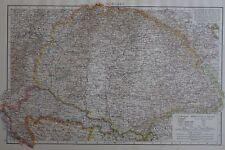 1896 mappa vittoriana dell'Ungheria il Times ATLAS 1st Gen