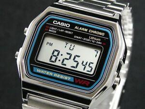 Casio Retro Digital Unisex Watch A-158W Original Factory New Digital A158 Silver