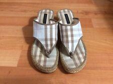 Authentic Burberry Nova Check Wedge Sandal Women's Size 40.