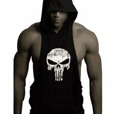 Hot Men Gym Clothing Stringer Hoodie Bodybuilding Tank Top Muscle Hooded Shirt