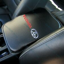 X1 For New Toyota Carbon Fiber Car Center Console Armrest Cushion Mat Pad Cover (Fits: Toyota)