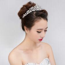 Wedding Bridal Princess Hair Tiara Crown Crystal Austrian Veil Headband Hot Sale