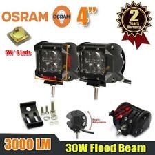 2pcs 4inch Dual Row Osram LED Work Light Bar Flood Beam SUV Fog Driving Lamp CAO