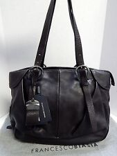New Francesco Biasia A93206 Dulcie Brown Leather Large Tote Shoulder Bag nwt