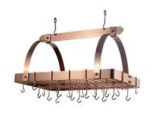 Old Dutch Hanging Pot Rack Pan Holder Kitchen Organizer w/ 24 Hooks Satin Copper