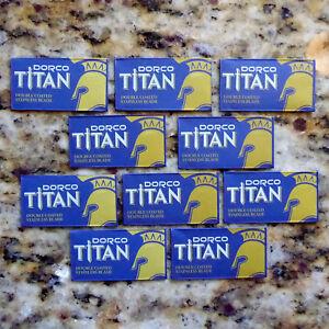 10 Dorco Titan Double Coated Stainless Double Edge Razor Blades