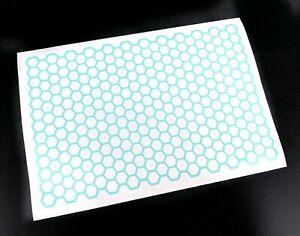 Precut 1/10 1/8 RC Honeycomb Pattern Paint Masking Sheet, Body Shell Stencil