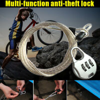 Cycling Security Password Luggage Bike Bicycle Cable Code Chain Lock Padlock