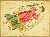 PAINTINGS DRAWING STAR MAP VIRGO VIRGIN CONSTELLATION ART POSTER PRINT LV3144