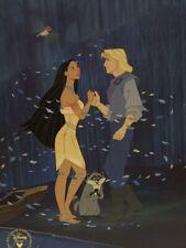 1995 Commemorative Pocahontas Art Print Lithograph 11x14 Disney Vintage