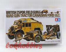 Tamiya Model 35044 1/35 British 25 Pdr Field Gun & Quad Tractor Vehicle Truck