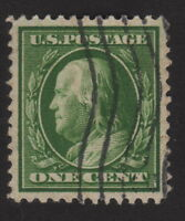 1909 US 1c, Used, Benjamin Franklin, Sc 357, Bluish gray, Graded, XF Superb 96
