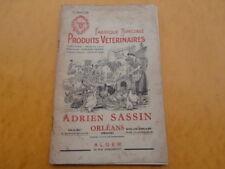 fabrique Spéciale PRODUITS VETERINAIRES Adrien Sassin Orléans Alger 1955
