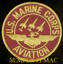US MARINE AVIATION PATCH US MARINES MCAS MAW F18 A6 A4 OV10 CH46 UH1 AH1 CH53 F4