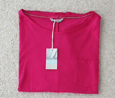 M&s Sizes 10 12 14 16 20 Pink Pure Cotton 3/4 Sleeve Loose Fit Top Post 16