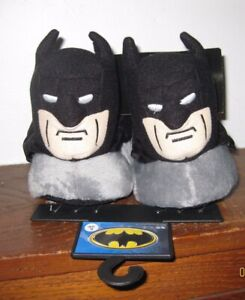 DC Comics BATMAN Childrens 3D Plush Slippers Size Small 5/6 Brand New with TAGS