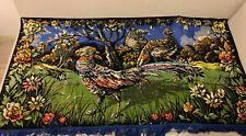 Vintage woven textile / tapestry - Pheasants