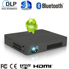 HD DLP Mini Pico Projector 3D Wifi Android Home Theater TV Bluetooth USB HMDI TF